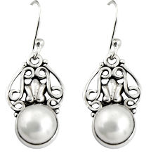5.10cts natural white pearl 925 sterling silver dangle earrings jewelry r19893