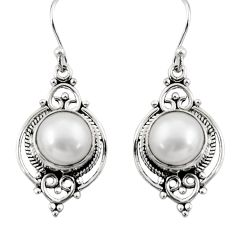 9.61cts natural white pearl 925 sterling silver dangle earrings jewelry r30972