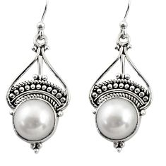 7.71cts natural white pearl 925 sterling silver dangle earrings jewelry r31015