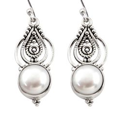 8.31cts natural white pearl 925 sterling silver dangle earrings jewelry r31085