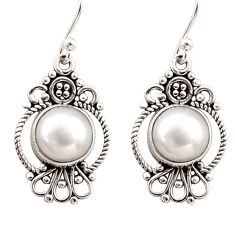 6.85cts natural white pearl 925 sterling silver dangle earrings jewelry r31116