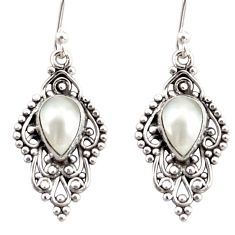4.61cts natural white pearl 925 sterling silver dangle earrings jewelry r31242