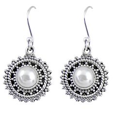 2.81cts natural white pearl 925 sterling silver dangle earrings jewelry r55194