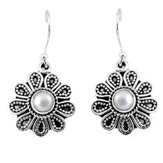 2.01cts natural white pearl 925 sterling silver dangle earrings jewelry r55233
