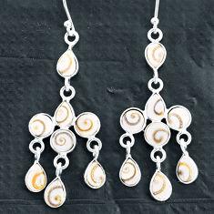10.08cts natural white shiva eye 925 sterling silver chandelier earrings t4663