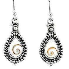 5.53cts natural white shiva eye 925 sterling silver dangle earrings r60471