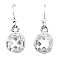 4.53cts natural white topaz 925 sterling silver dangle earrings jewelry r26704