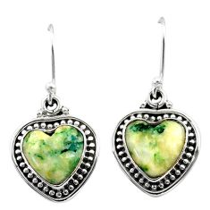 8.94cts natural white tree agate 925 sterling silver dangle earrings t41502