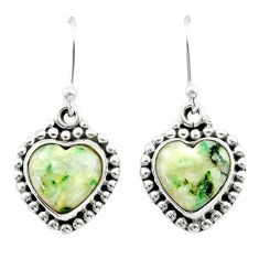 8.60cts natural white tree agate 925 sterling silver dangle earrings t41525