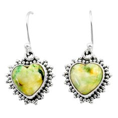 7.96cts natural white tree agate 925 sterling silver dangle earrings t41547