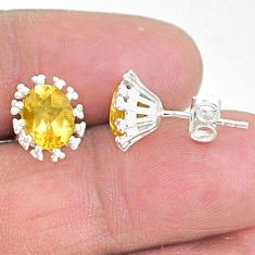 3.38cts natural yellow citrine 925 sterling silver earrings jewelry t9102