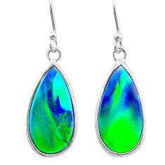 4.91cts northern lights aurora opal (lab) sterling silver dangle earrings t23498
