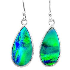 4.10cts northern lights aurora opal (lab) sterling silver earrings t23471