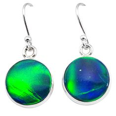 5.87cts northern lights aurora opal (lab) 925 silver dangle earrings t28469
