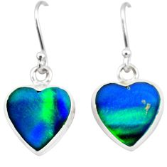 5.81cts northern lights aurora opal (lab) 925 silver dangle earrings t28473