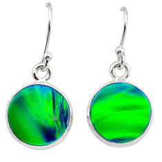 5.44cts northern lights aurora opal (lab) 925 silver dangle earrings t28486