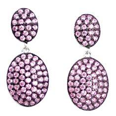 3.65cts pink kunzite (lab) 925 sterling silver dangle earrings a90211 c24674