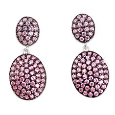 Pink topaz quartz 925 sterling silver dangle earrings jewelry a78084 c24760