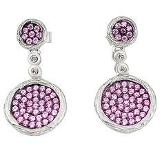 Pink topaz quartz topaz 925 sterling silver dangle earrings a78089 c24756