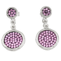 Pink topaz quartz topaz 925 sterling silver dangle earrings a78092 c24755
