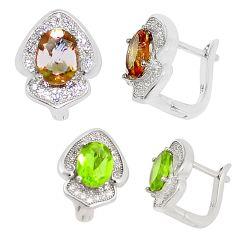 Purple alexandrite (lab) topaz 925 sterling silver earrings jewelry c22169