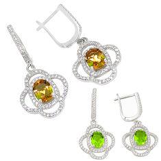 Purple alexandrite (lab) topaz 925 sterling silver earrings jewelry c22179
