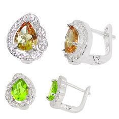Purple alexandrite (lab) topaz 925 sterling silver stud earrings jewelry c22175