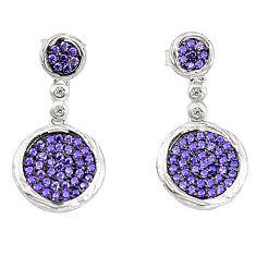 Purple amethyst quartz topaz 925 sterling silver dangle earrings a78077 c24713