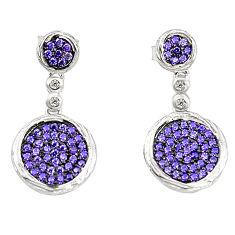 Purple amethyst quartz topaz 925 sterling silver earrings jewelry a78067 c24699