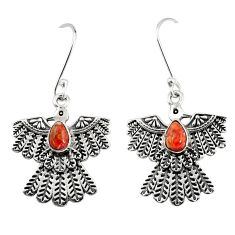 2.10cts red copper turquoise 925 silver dangle eagle charm earrings d40395