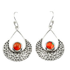 1.76cts red copper turquoise 925 sterling silver dangle earrings jewelry r39081