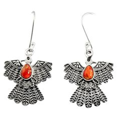 2.27cts red copper turquoise 925 sterling silver eagle charm earrings d40394