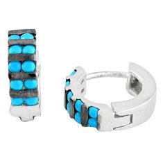 Sterling silver blue sleeping beauty turquoise earrings jewelry a86836 c24816