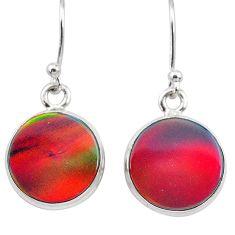 5.87cts volcano aurora opal (lab) 925 silver dangle earrings jewelry t28432