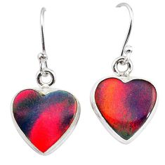 5.09cts volcano aurora opal (lab) 925 silver dangle earrings jewelry t28442