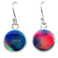 5.20cts volcano aurora opal (lab) 925 silver dangle earrings jewelry t28452