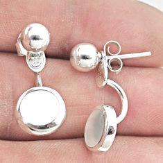 4.69gms white pearl enamel 925 sterling silver dangle earrings jewelry c25653