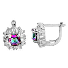 8.83cts multi color rainbow topaz topaz 925 sterling silver stud earrings c5181