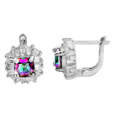 8.79cts multi color rainbow topaz topaz 925 sterling silver stud earrings c5185