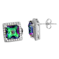 8.77cts multi color rainbow topaz topaz 925 sterling silver stud earrings c5212