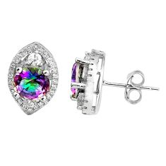 5.84cts multi color rainbow topaz topaz 925 sterling silver stud earrings c5500