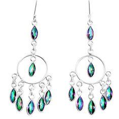 15.70cts multicolor rainbow topaz 925 sterling silver chandelier earrings p39217