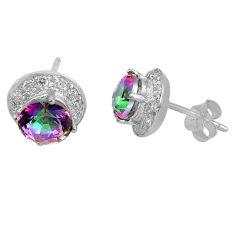 5.74cts multicolor rainbow topaz topaz 925 sterling silver dangle earrings c4556