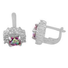 8.54cts multicolor rainbow topaz topaz 925 sterling silver dangle earrings c4560