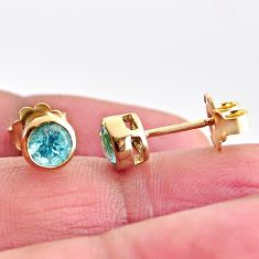 1.96cts natural apatite 925 sterling silver 14k gold earrings jewelry c5490