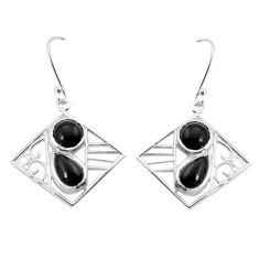 7.07cts natural black onyx 925 sterling silver dangle earrings jewelry p32509