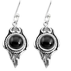 5.06cts natural black onyx 925 sterling silver dangle earrings jewelry p40226