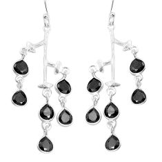 10.62cts natural black onyx 925 sterling silver dangle earrings jewelry p60713