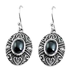 4.74cts natural black onyx 925 sterling silver dangle earrings jewelry p63869