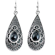 3.62cts natural black onyx 925 sterling silver dangle earrings jewelry p63897